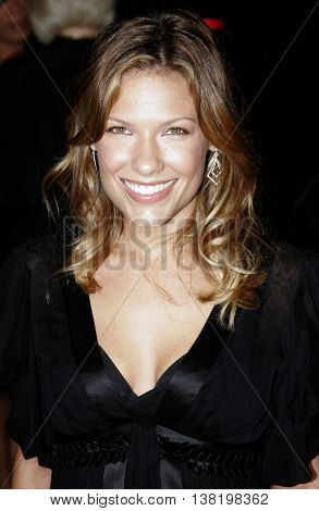 Kiele Sanchez at the Los Angeles premiere of 'Stranger Than Fiction' held at the Mann Village Theatre in Westwood, USA on October 30, 2006.