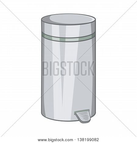 Home trash icon in cartoon style isolated on white background. Garbage symbol