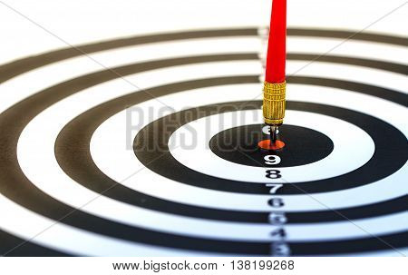Target Dart With Arrow Isolated On White Background
