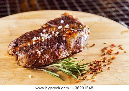 tasty steak with sauce
