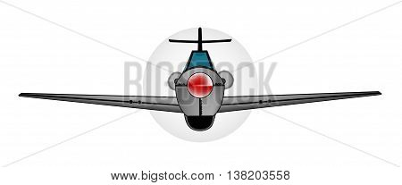 Early WWII fighter aircraft over a white background