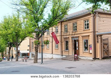 LAPPEENRANTA, FINLAND - JUNE 15, 2016: Ivan Wolkoff (russian merchant) House Museum and Restaurant on Kauppakatu Street in the center of the town