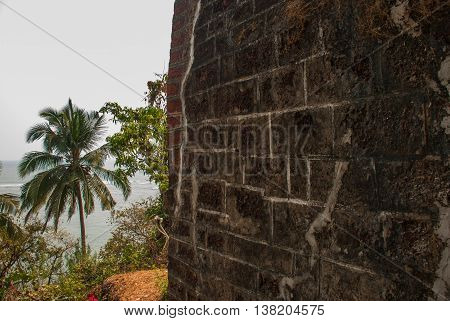 Fort Tiracol. Wall Of The Fortress. Goa. India