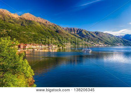 Sunrise In Cannero Riviera Village, Lake Maggiore, Verbania, Piedmont, Italy