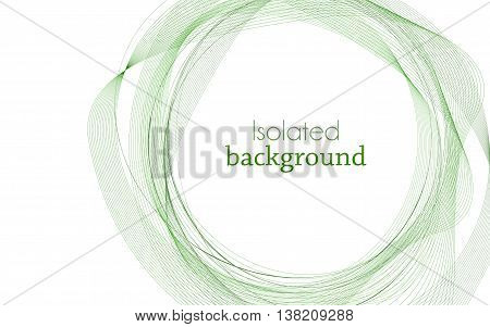 Green Abstract Mesh Background with Circles Lines and Shapes. Design Layout for Your Business and desktop screen.