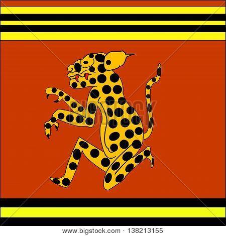 Jaguar. Ethnic pattern of American Indians: Aztecs, Mayans, Incas. Vector illustration.