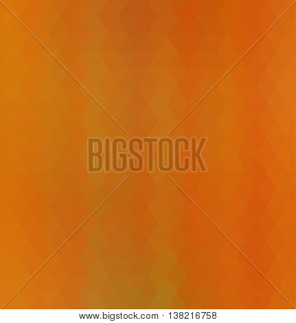 Abstract low poly geometric vector background of orange and yellow triangular polygons in regular strip pattern. Cell phone background.