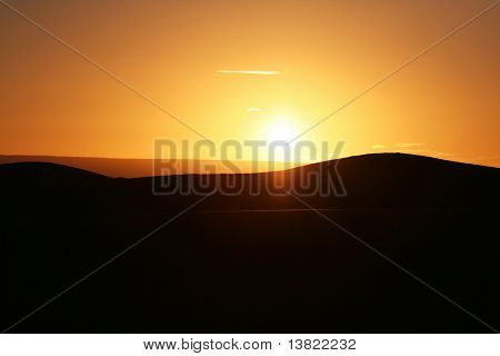 Sunsrise in desert