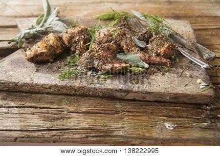 Roast Rabbit Portions