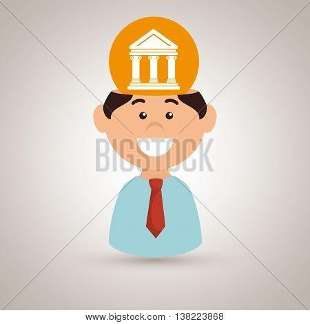 man justice idea isolated icon design, vector illustration  graphic
