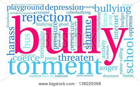 Bully word cloud on a white background.