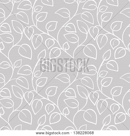 Seamless floral pattern can be used for wallpaper, website background, wrapping paper. Leaf natural bright pattern. Summer design. Flower concept.