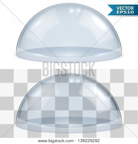 Bell glass isolated on white background vector template. EPS10 file with transparency can be laid over any bright background.