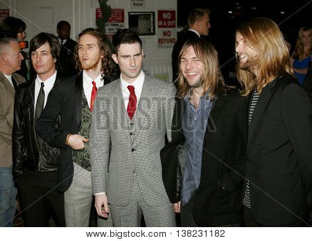 Adam Levine and Maroon 5 at the Global Green USA Pre-Oscar Celebration to Benefit Global Warming held at the Avalon in Hollywood, USA on February 21, 2007.
