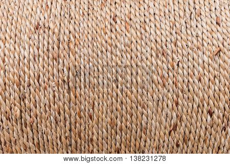 Close Up Of Rope Made From Plant, Texture