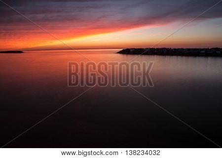 Sunset, Beach, Presque Isle, Erie, Vanilla Sky