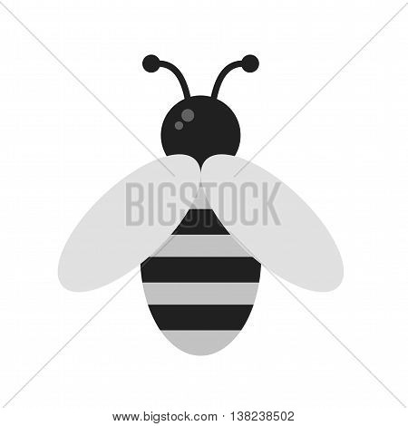 Honeybee, bee, honey icon vector image. Can also be used for seasons. Suitable for mobile apps, web apps and print media.