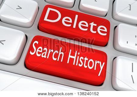 Delete Search History Concept