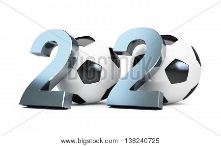 football 2020. 3d Illustrations on a white background