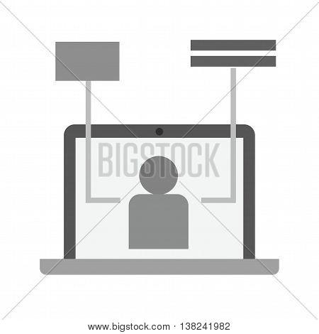 User, experience, technology icon vector image. Can also be used for digital web. Suitable for use on web apps, mobile apps and print media.