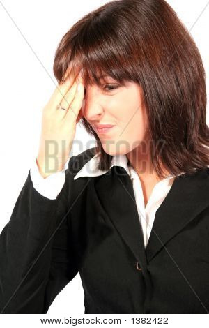 Buissness Woman With Head Ache Pains