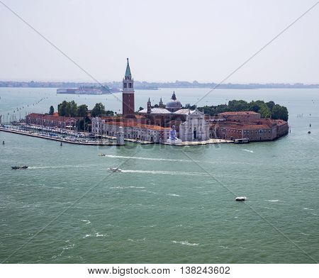 VENICE, ITALY - JUNE 11, 2013:Island of San Giorgio Maggiore in Venice