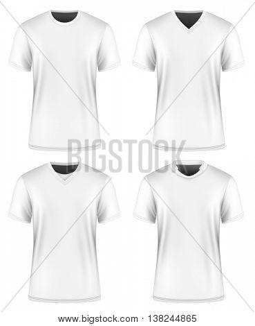 Men's t-shirt. Vector illustration. Fully editable handmade mesh.