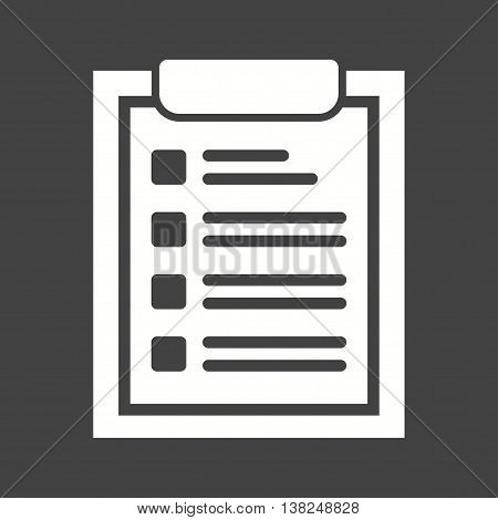 Checklist, tasks, draft icon vector image.Can also be used for customer services. Suitable for mobile apps, web apps and print media.