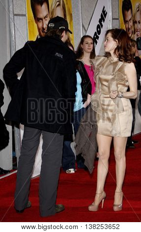 Bradley Cooper and Rose McGowan at the World premiere of 'When in Rome' held at the El Capitan Theater in Hollywood, USA on January 27, 2010.