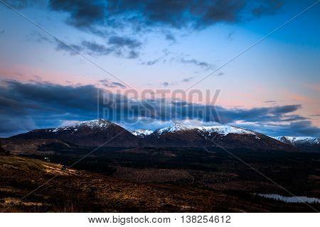 A beautiful Sunset in Glencoe Scotland UK