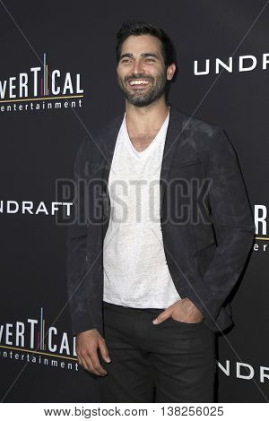 LOS ANGELES - JUL 11:  Tyler Hoechlin at the  Undrafted Los Angeles Premiere  at the ArcLight Hollywood on July 11, 2016 in Los Angeles, CA