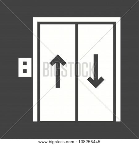 Elevator, button, up icon vector image.Can also be used for shopping. Suitable for web apps, mobile apps and print media.