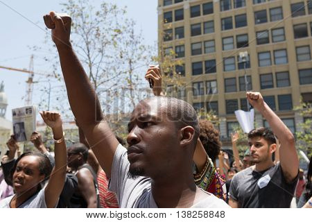 Black Lives Matter Protestors March On City Hall