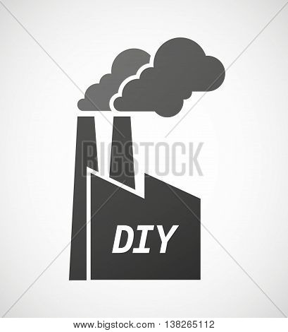Isolated Industrial Factory Icon With    The Text Diy