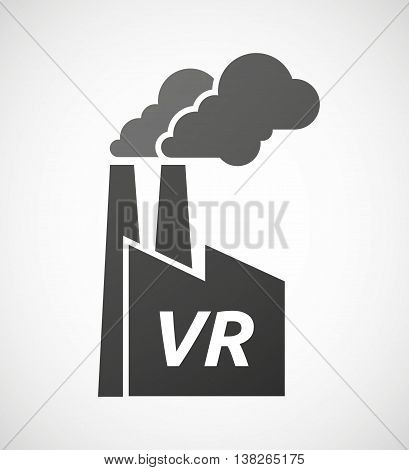 Isolated Industrial Factory Icon With    The Virtual Reality Acronym Vr