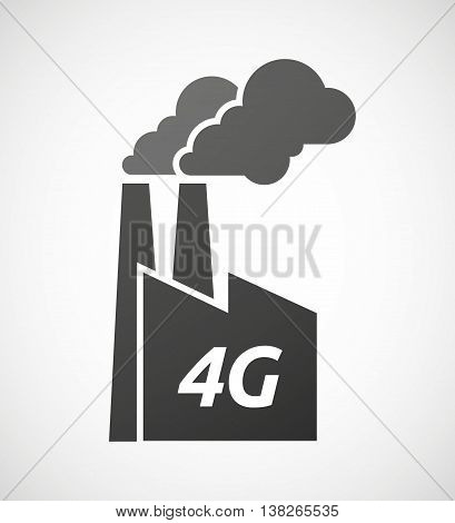 Isolated Industrial Factory Icon With    The Text 4G