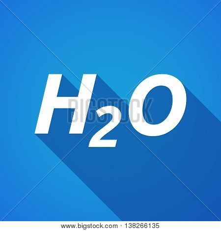 Long Shadow Illustration Of    The Text H2O