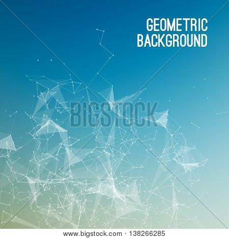 Geometric Abstract mesh background with circles and lines.