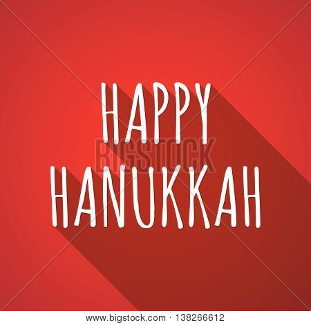 Long Shadow Illustration Of    The Text Happy Hanukkah