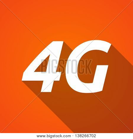 Long Shadow Illustration Of    The Text 4G