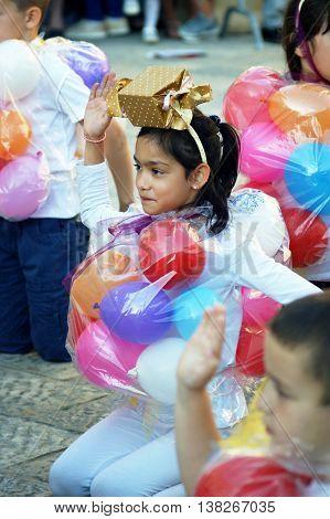 Montenegro, Herceg Novi - 04/06/2016: Carnival group