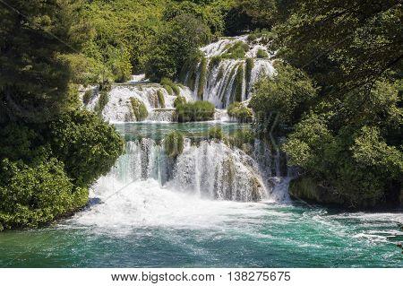 National Park Waterfalls Krka in Dalmatia Croatia Europe