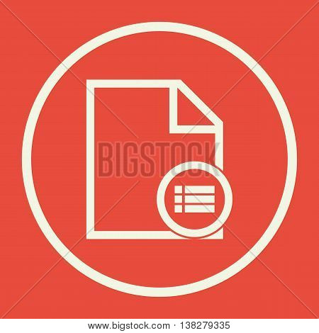 File Detail Icon In Vector Format. Premium Quality File Detail Symbol. Web Graphic File Detail Sign