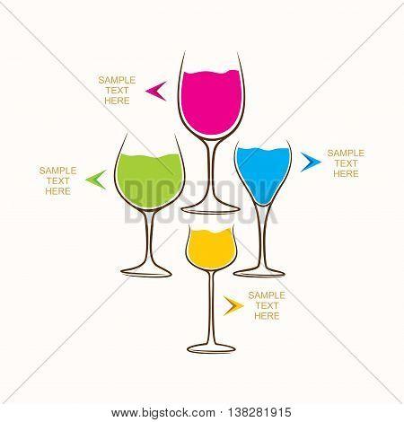 creative food and beverage info-graphics design vector