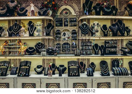 Bat Yam Israel - October 20 2015. Interior of Michal Negrin showroom located in Bat Yam near Tel Aviv