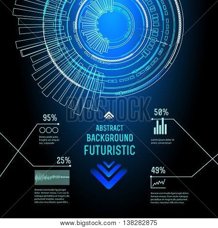 illustration of Futuristic interface, imfographic for technology vector, sci-fi  background