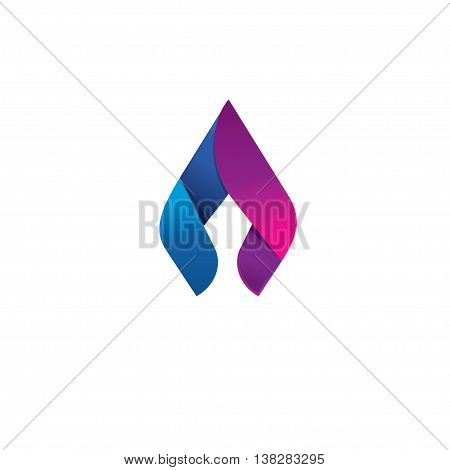 Flame vector logo design concept, beauty spear, elegant candle, identity ornament. Natural gas business company modern trendy fresh energy abstract symbol design