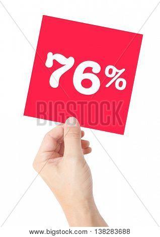76 percent on white