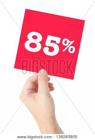 85 percent on white