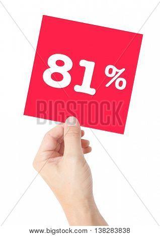 81 percent on white